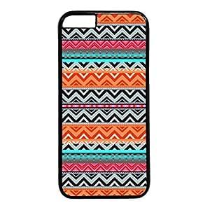 iPhone 5C Case, iCustomonline Colorful Chevron Stripe Pattern Designs Soft TPU Case Cover for iPhone 5C Black
