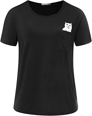Herren Top Damen Tee Lord Nermal Pocket Cat T-Shirt rip n dip style T-shirt