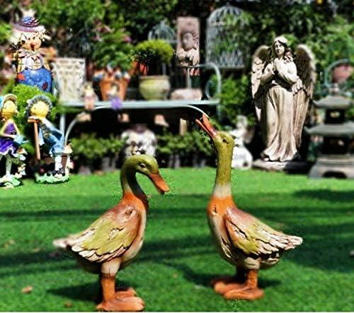 XMUMA Simulación Juego De Animales Pato Decoración Al Aire Libre Jardín Patio Estanque Piscina Rocalla Decoración Resina: Amazon.es: Hogar