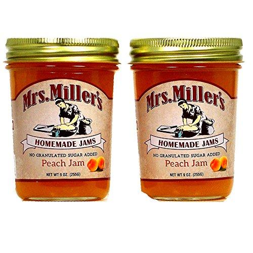 mrs-millers-no-sugar-peach-jam-2-9-oz-jars