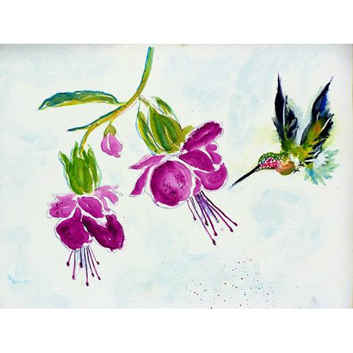 Betsy Drake TP940 Purple Hummingbird Outdoor Wall Hanging,,24'' X30''