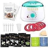 Yeelen Waxing Kit 300g Wax Beans + 100g Nose Wax Wax Warmer Hair Removal + 10 Wax Applicator Sticks