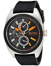 Boss Orange Men's 1513244 LONDON Analog Display Japanese Quartz Black Watch