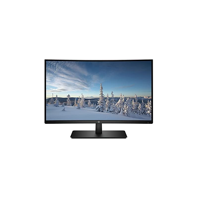 HP 27-inch FHD Curved Monitor (27b, Blac