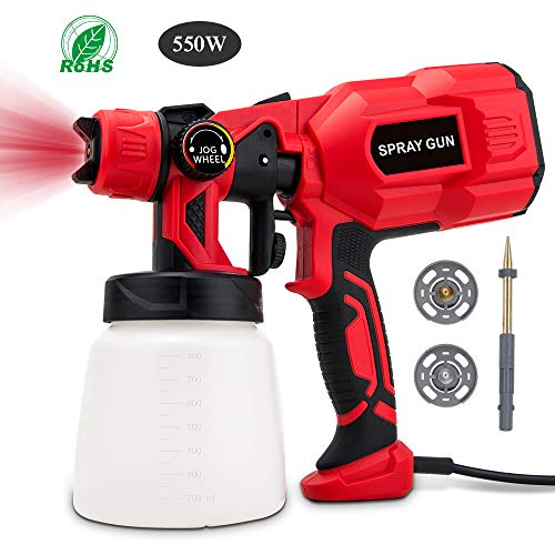 BOZILY Paint Sprayer, Electric HVLP Spray Gun with 3 Adjustable Spray Patterns and Flow Control, Lightweight and Detachable, Easy Spraying and Cleaning, Perfect for Painting Projects (Best Spray Gun For Interior Paint)
