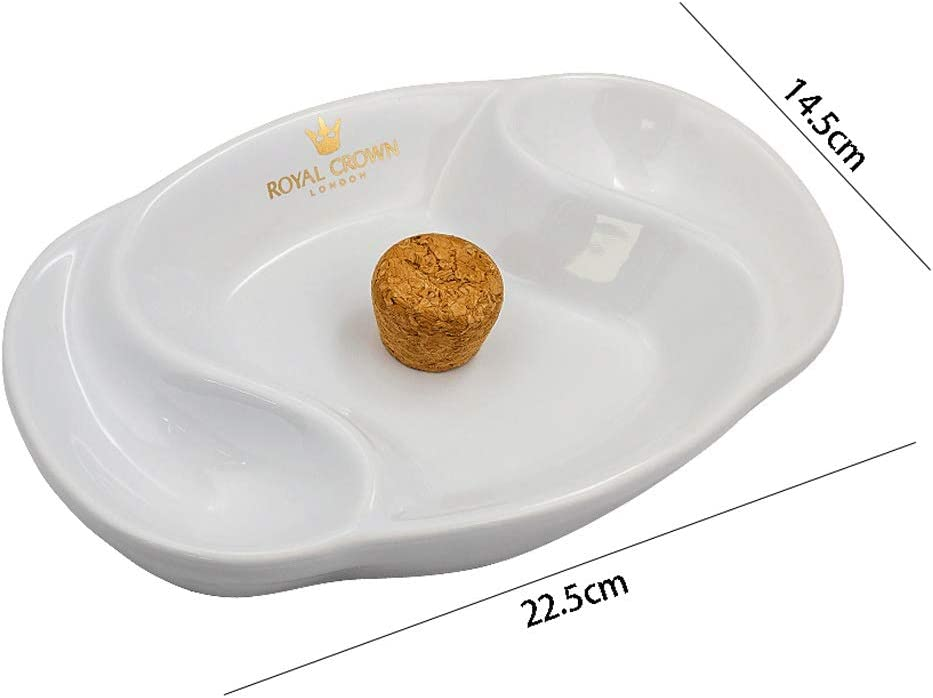 Color : White, Size : F Ashtray European Style Simple Style Pipe Ashtray White Ceramic Placed Pipe