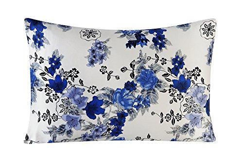 Silk Pillowcase for Hair and Skin with Hidden Zipper Print Standard Size (pattern11) Satin Underside