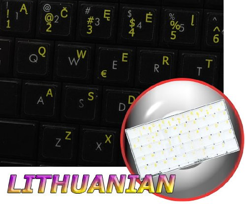 Download LITHUANIAN KEYBOARD STICKERS ON TRANSPARENT BACKGROUND WITH YELLOW LETTERING (14X14) pdf