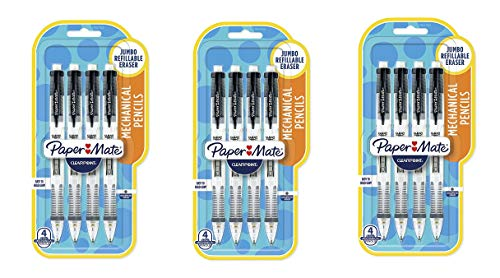 Clearpoint Mechanical Pencil, 0.7 mm, Black Barrel, Refillable by Paper Mate (Image #1)