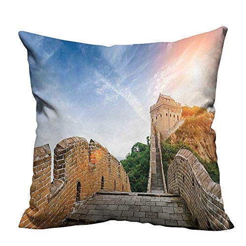Dynasty Ahri Costumes - YouXianHome Throw Pillow Cover for Sofa of China Legendary Dynasty Monument on