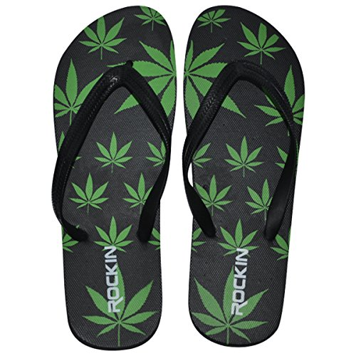 9e29b004be799 Rockin Footwear Marijuana Pot Leaf Women s Flip Flop Sandals – What ...