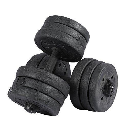 Greensen Adjustable Dumbbell Set Weight Set Biceps Exercise Lifting Fitness Training Home Gym Workout Equipment for Man…