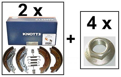 2 x Knott Bremsbacken 200x50 20-2425/1 47276 fü r 2 Achsen + 4 x Flanschmutter FKAnhängerteile