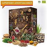 SUPERFOOD Adventskalender I kulinarischer Weihnachtskalender mit 24 Feinkost Überraschungen! Ausgefallener Adventskalender für gesunde Menschen