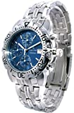 Oskar-Emil Classic Chrongraph Caesium 1119G Men's Quartz Watch Blue Dial Analogue Display Silver Stainless Steel Bracelet RRP $425