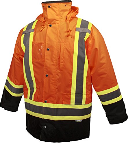 Terra 116504ORXL High-Visibility Lined Reflective Safety Parka, Orange, X-Large