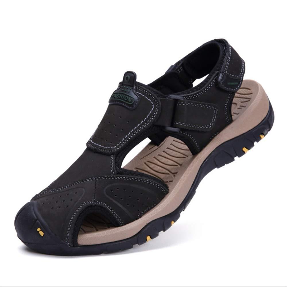 Wangcui Herren Sandalen Sport Casual Beach Schuhe Atmungsaktive Schuhe (24,0-27,5) cm (Farbe : Schwarz, Größe : 42 EU) Schwarz