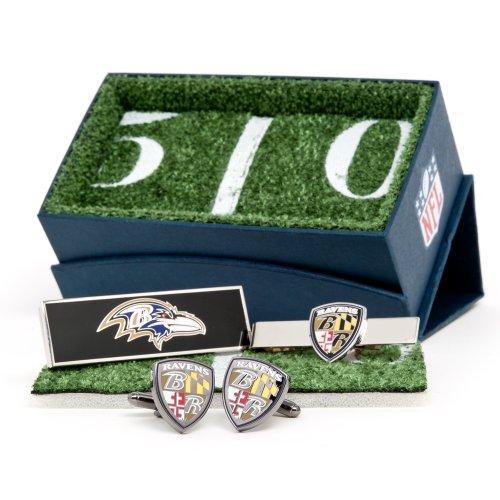 Baltimore Ravens Cufflinks (Baltimore Ravens Cufflinks, Moneyclip & Tie Bar Gift Set)
