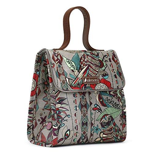 Sakroots Women's Artist Circle Lunch Bag Daypack, Charcoal Spirit Desert, One Size