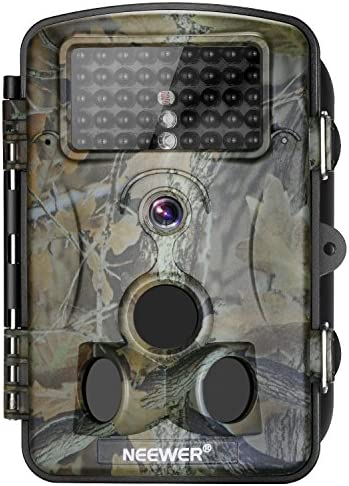 Neewer 1080P 12MP HD Infrared Digital Trail Camera 2.4 inches LCD Display, 120 Degree Wide Angle Night Vision,Waterproof Dustproof for Hunting Scouting Surveillance
