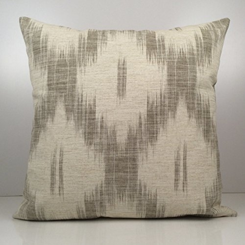 Kravet Pillow, Off White Pillow, Grey Pillow, Throw Pillow Cover, Decorative Cover, Cushion Cover, An Exclusive design for Kravet, Linen Blend Pillow, Accent (Kravet Silk)