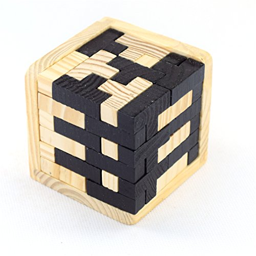 Joyeee 3D Wooden Brain Teaser Puzzle #5 - Diamond Cube