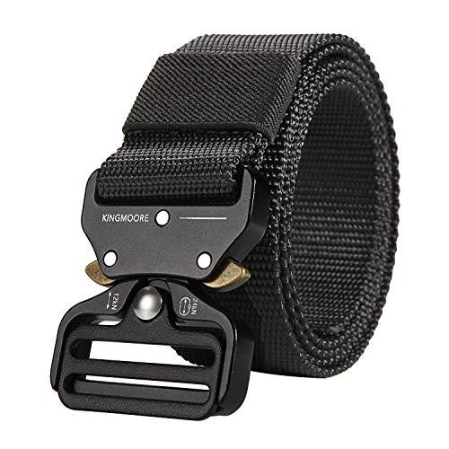 KingMoore Men's Tactical Belt Heavy Duty Webbing Belt Adjustable Military Style Nylon Belts from KingMoore