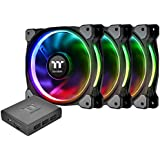 Thermaltake Riing Plus 12 RGB Tt Premium Edition 120mm Software Enabled Case/Radiator Fan -Triple Pack- CL-F053-PL12SW-A