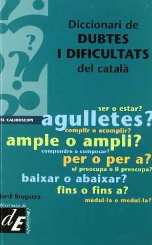 Descargar Libro Diccionari De Dubtes I Dificultats Del Català Jordi Bruguera I Talleda