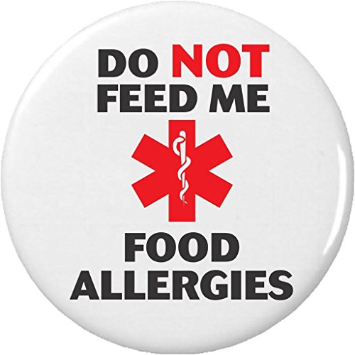 "(Do NOT Feed Me – Food Allergies 2.25"" Large Magnet Allergy Medical Alert)"
