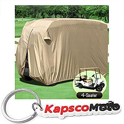 Amazon.com: Impermeable Superior Beige Golf Cart Cover Cubre ...