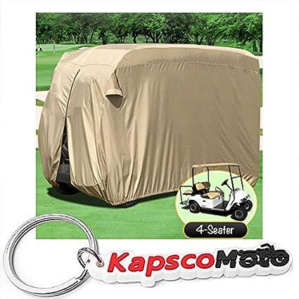 Amazon.com: Impermeable Superior Beige Golf Cart Cover Cubre ...