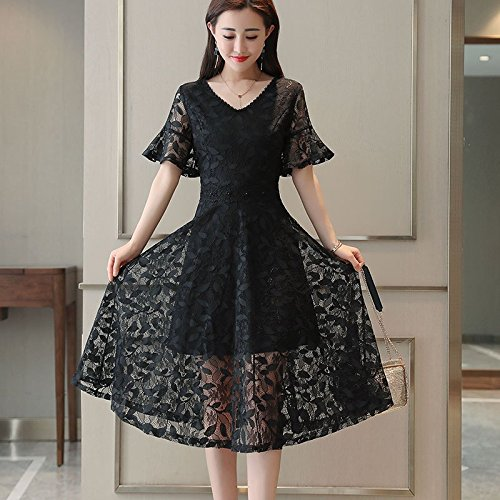 Jupe Fairy Robes Robe Style XXL MiGMV Long Women's Snow air fil Black qRwg0z1