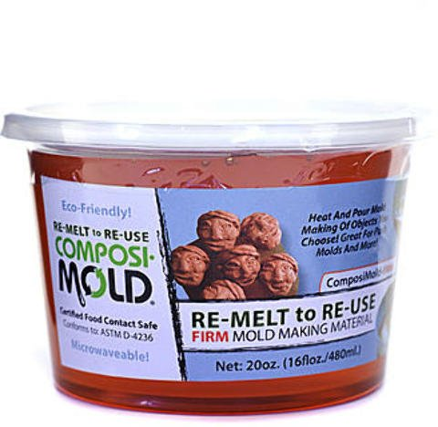 ComposiMold RE-MELT to RE-USE Mold Making Material - Firm 1 pcs sku# 1874623MA by ComposiMold