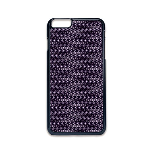 Phone Case Compatible with iPhone6 plus iPhone6s plus 2D print Black edge,Geometric,Pinwheel Design with Dark Color Palette Abstract Pattern Winter Motifs,Mauve Lavander Purple,Hard Plastic Phone Case