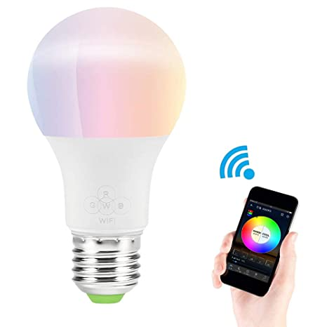 GUYINHUA WiFi Smart LED Bombilla de luz, controlado por Smartphone ...