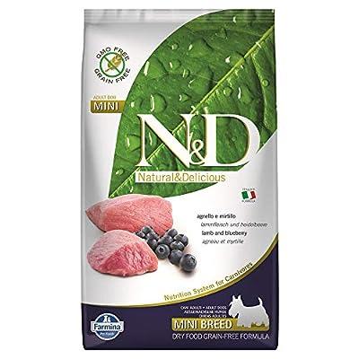 Farmina Natural And Delicious Lamb Grain-Free Formula Small Bites Dry Dog Food, 5.5-Pound