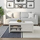 Ameriwood Home Farmington Coffee Table, Ivory Oak