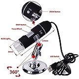 YBLUESKY 20X-500X High-definition Digital Microscope Magnifying Glass SFM STM 8 LED USB Digital Zoom
