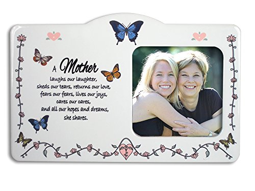 amazoncom mom frame butterfly themed frame with a loving mother saying mother daughter single frames - Mom Frame