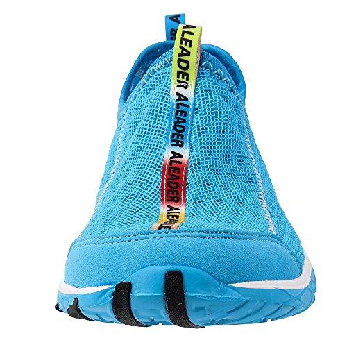 L'eau Antidérapant Sur Chaussures Pour Aleader Maille Bleu Femme De tXCUccqw