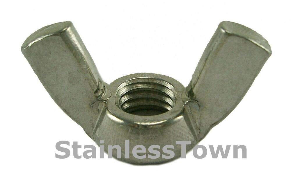 (Pack of 100) Stainless Steel Wing Nuts 5/16-18 by IM Vera