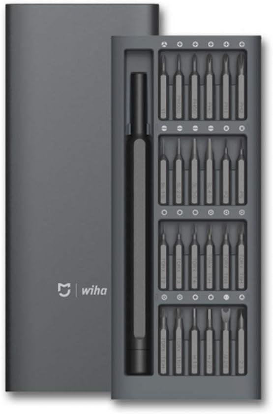 Juego de destornilladores Xiaomi MiJia Wiha - Juego de destornilladores de precisión, 24 piezas (brocas magnéticas) xiaomi screwdriver set