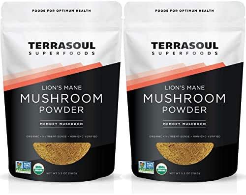 Terrasoul Superfoods Organic Lion's Mane Mushroom Powder (4:1 Extract), 11 Ounces