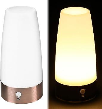 Comficent Lámpara de Mesa LED Iluminación sin Cable Sensor de ...