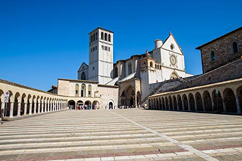 - Home Comforts Peel-n-Stick Poster of Assisi Asiz Square Monastery Vivid Imagery Poster 24 x 16 Adhesive Sticker Poster Print
