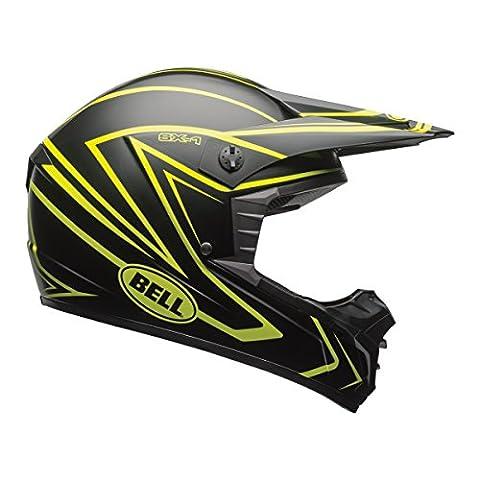 Bell SX-1 Unisex-Adult Off Road Helmet (Whip Matte Black/Hi-Viz Yellow, X-Large) (D.O.T.-Certified)