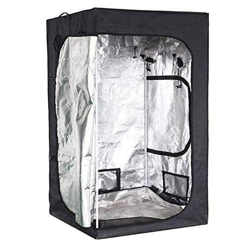 Grow Tent 60x60x140cm Reflective Mylar Hydroponic Grow Tent with Observation Window, Durable 600D Oxford Fabric Indoor…