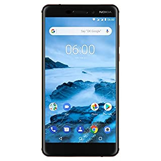Nokia 6.1 - Android 9.0 PIE - 32GB microSD - Single Sim Unlocked Smartphone (AT&T/T-Mobile/Metropcs/Cricket/Mint) - 5.Screen - Black (TA-1016)