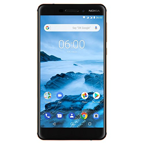 "Nokia 6.1 (2018) - 32 GB - Unlocked Smartphone (AT&T/T-Mobile) - 5.5"" Screen - Black"